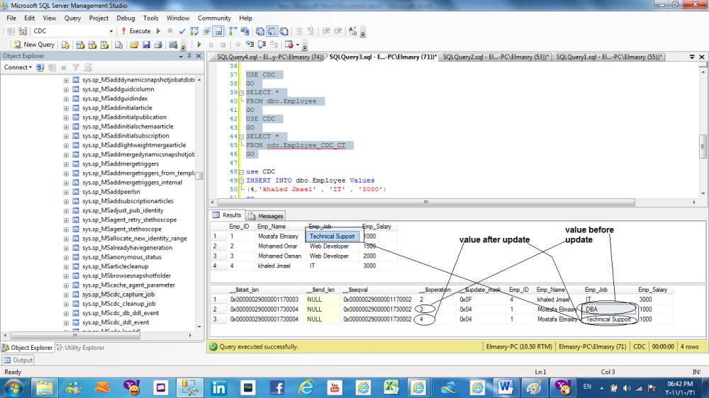 Change data capture (CDC) in SQL Server 2008 (5/6)