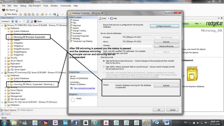 mirroring sql server 2008 sql database administration