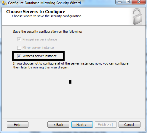 How to add or replace database mirroring witness to an existing Mirroring Database? (3/6)