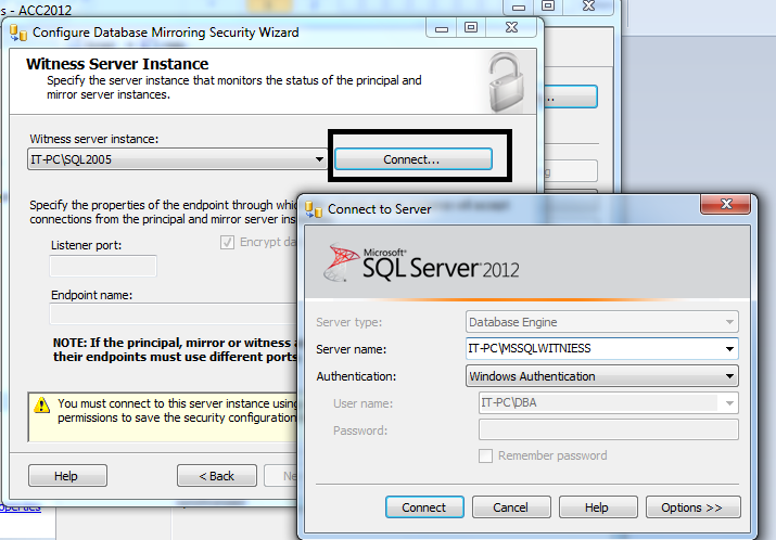 How to add or replace database mirroring witness to an existing Mirroring Database? (5/6)
