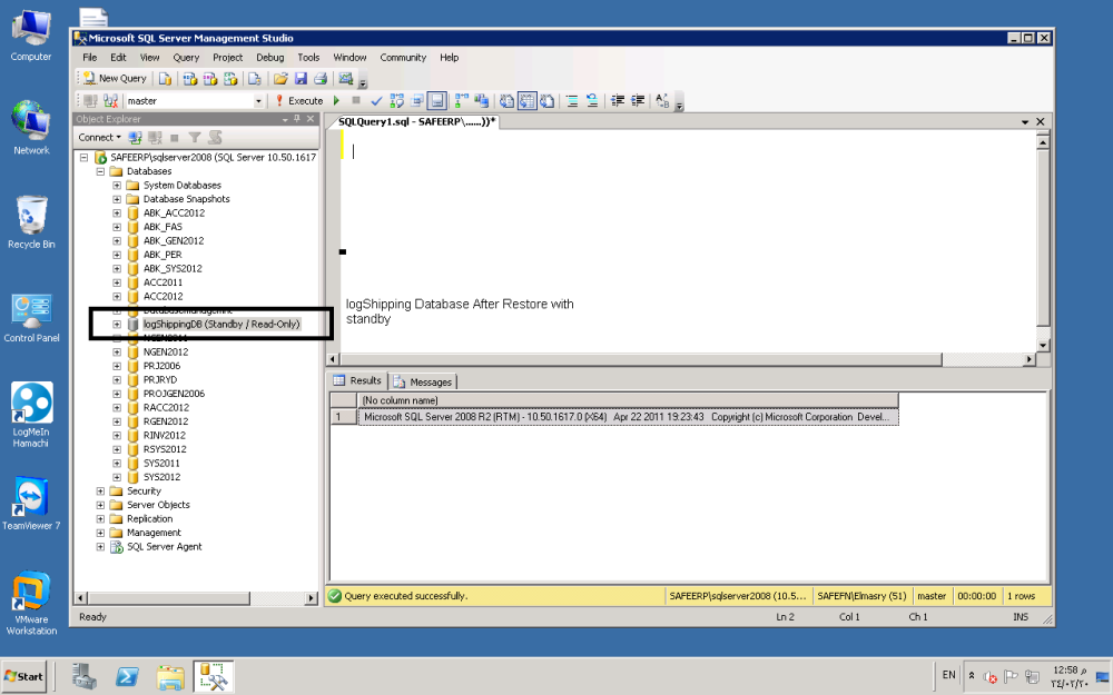 Log Shipping in SQL Server 2008R2 Step by Step (1/6)