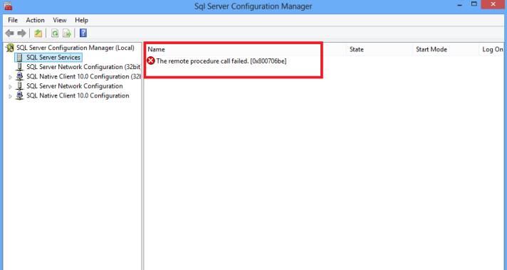 SQLConfig Error