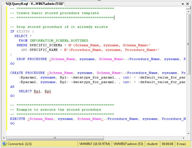 Stored Procedure Script
