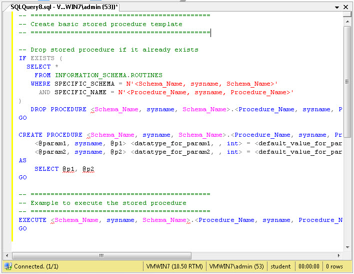 Stored Procedure Script