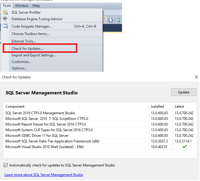 What is New in SQL Server 2016 Management Studio | SQL