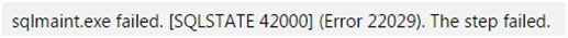 SQL Server Error 22029