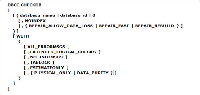 dbcc-checkdb